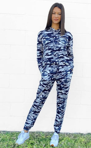 Super Soft Lounge Set  - Blue Camo