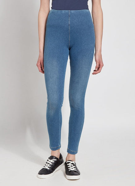 Toothpick Denim Crop Legging in Mid Wash