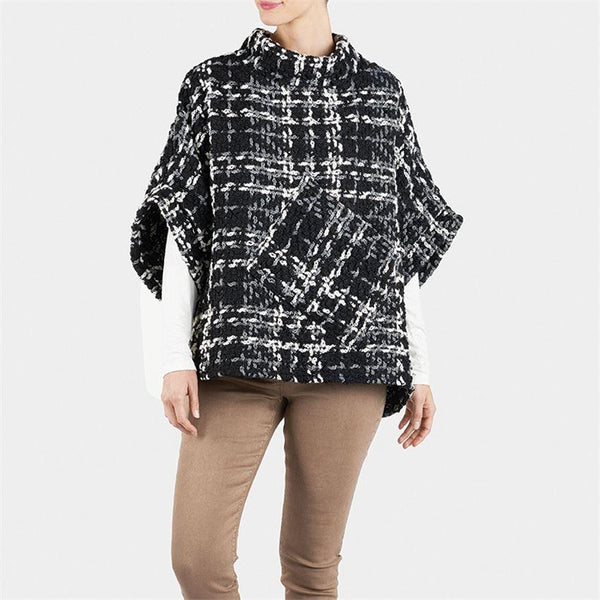 Boucle Winslow Popover - Black and White