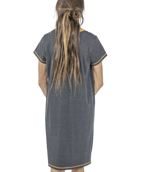 Lazy One V-neck Nightshirt - Leaf Me Alone
