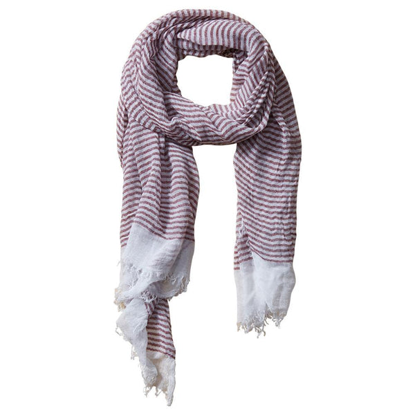 Tiny Stripe Insect Shield Scarf in Red