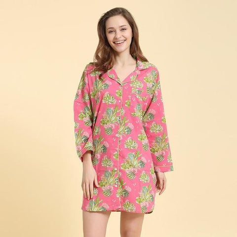 Night Shirt - Fuchsia Cactus