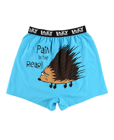 Lazy One Men's Funny Boxers - Pain In The Rear Men's Porcupine
