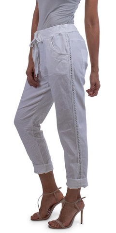 Caterina Cotton Pant  - White