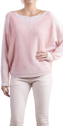 Argento Glitter Back-Zip Sweater - Soft Pink