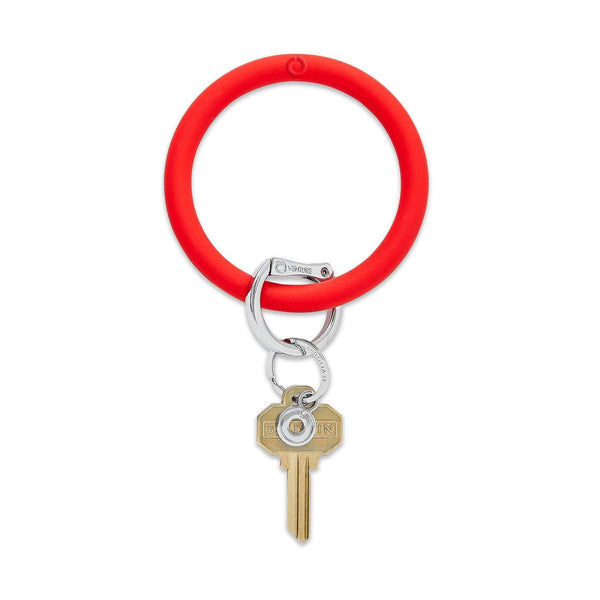 Solid Color Silicone Big O Key Ring  - 4 Solid Colors