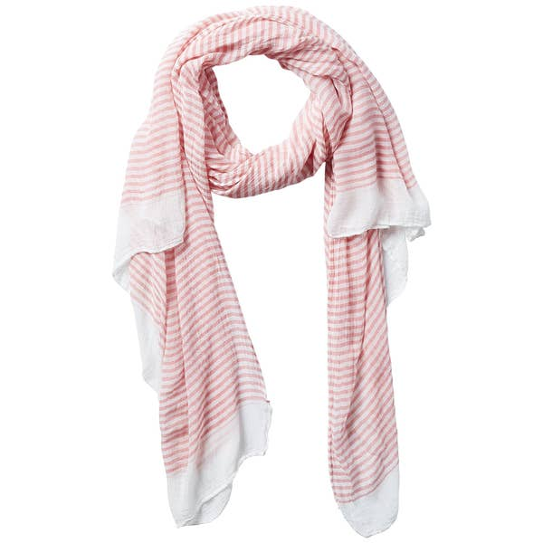 Tiny Stripe Insect Shield Scarf in Coral