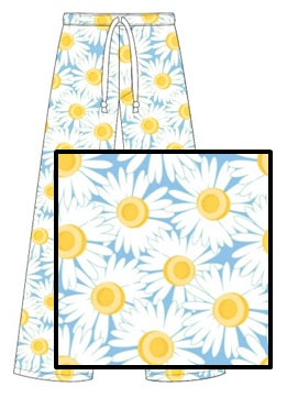 Sleep Pants - Large Daisies