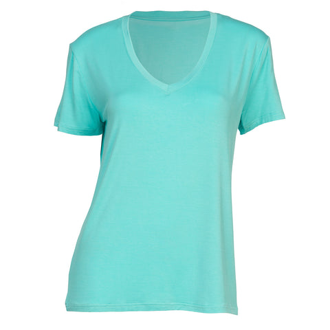 Essential VNeck TShirt - Surf Green