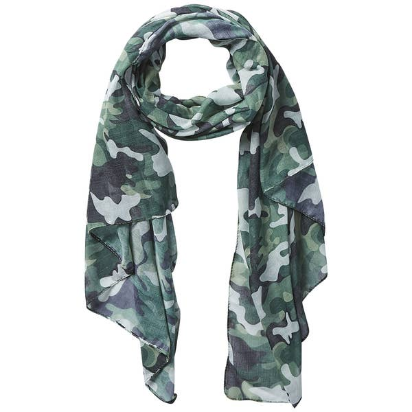 Insect Shield Camo Print Scarf in Green