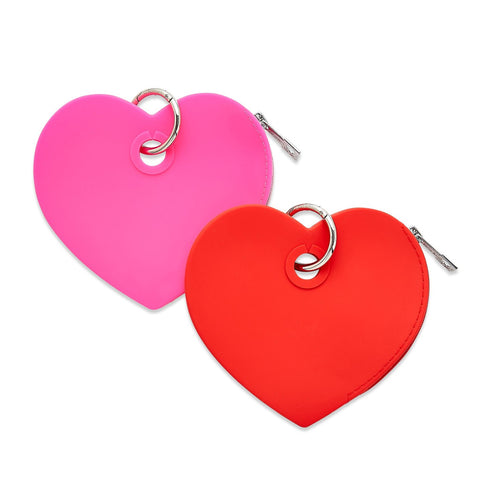 Silicone Heart Pouch - 2 Colors