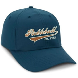 Pickleball Heritage Cap in Petrol Blue