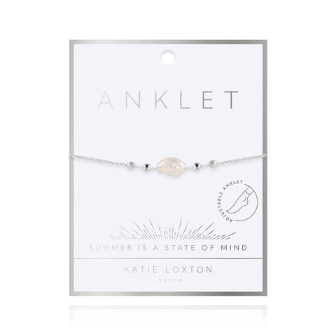 Katie Loxton Silver Pearl Anklet