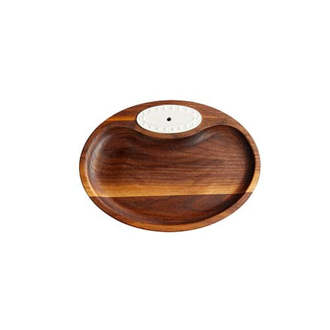 Nora Fleming- Walnut Tidbit Tray