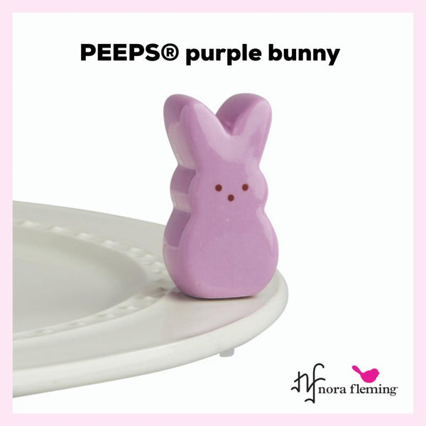 Nora Fleming Mini: Purple Peeps Bunny - Pre-Order Now
