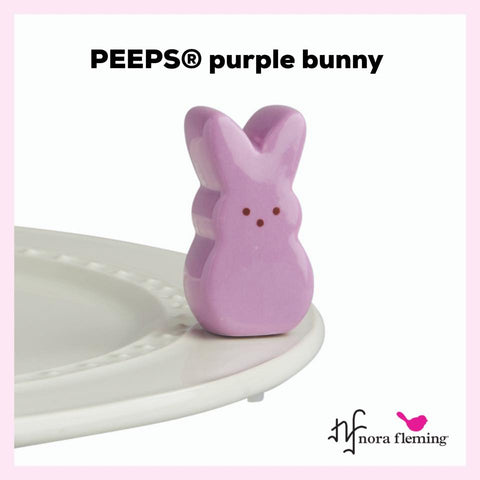 Nora Fleming Mini: Purple Peeps Bunny - Now in Stock!
