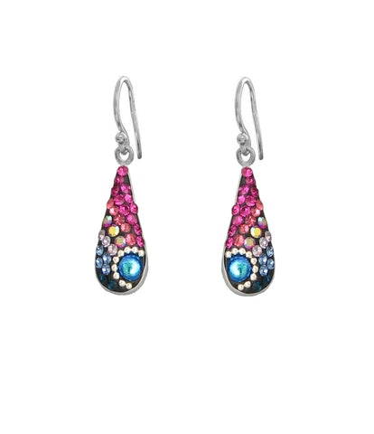 Mosaico Medium Narrow Teardrop Earrings