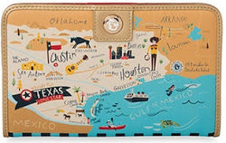 Spartina 449 Map Snap Wallet - Greeetings from Texas