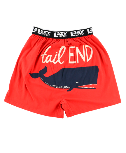Men's Funny Boxers - Tail End Whale