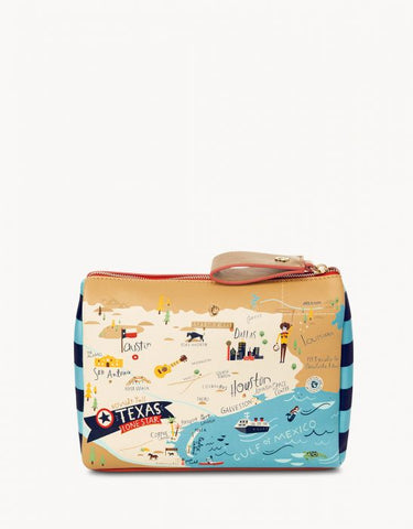 Spartina 449 Map Carry All Case - Greetings from Texas