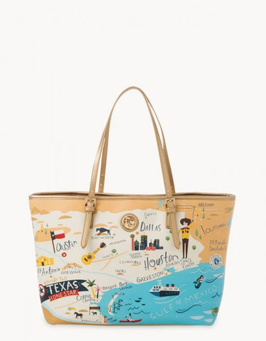 Spartina 449 Map Tote  - Greetings from Texas