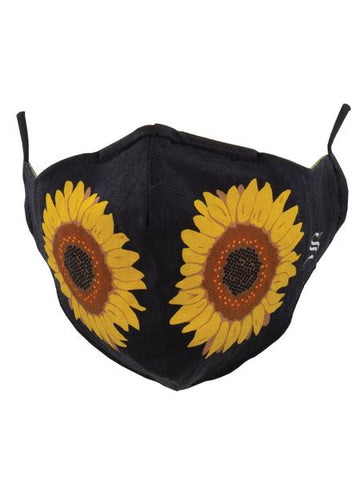 "ONE-SIZE ""SUNFLOWER"" MASK"