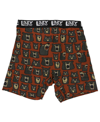 Lazy One Men's Funny Boxer Briefs - Don't Wake the Bear
