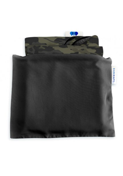 Black & Camoflage Reversible Rain Wrap