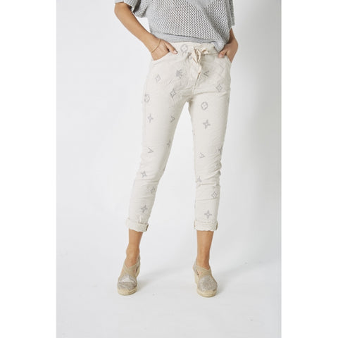 Crown and Flower Pattern Jegging - 2 colors