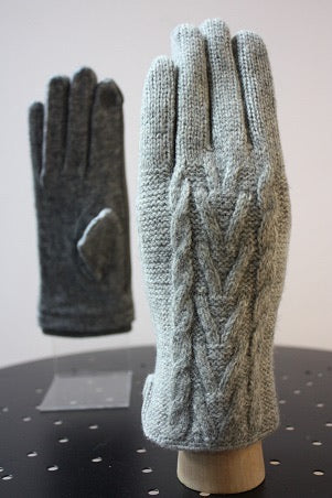 Cashmere Cable Knit Gloves - 4 Colors