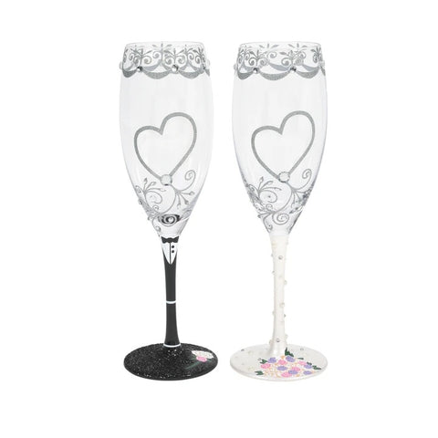 Cheers to the Bride and Groom Lolita Toasting Set