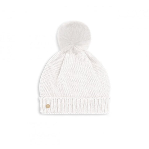 FAUX FUR BOBBLE HAT | WHITE