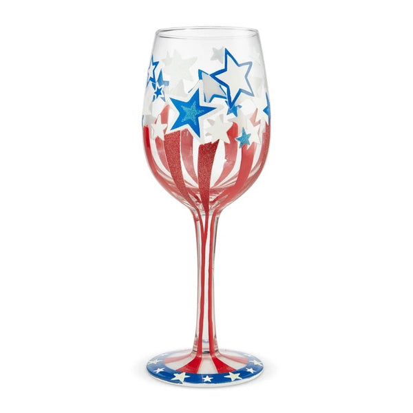 Land of the Free Wine Glass by Lolita
