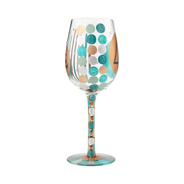 40 Never Looked So Good Birthday Wine Glass by Lolita