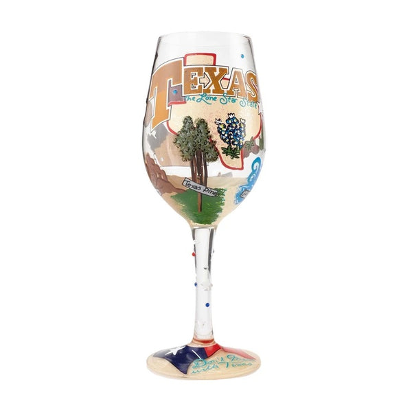 The Lone Star State Wine Glass by Lolita