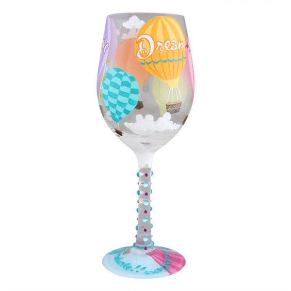 Reach for the Sky Wine Glass by Lolita