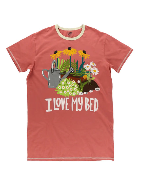 Lazy One Nightshirt - I Love My Bed - One Size