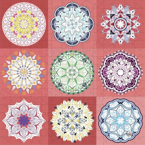 I Go to (250) Pieces Wooden Puzzle - Nine Mandalas