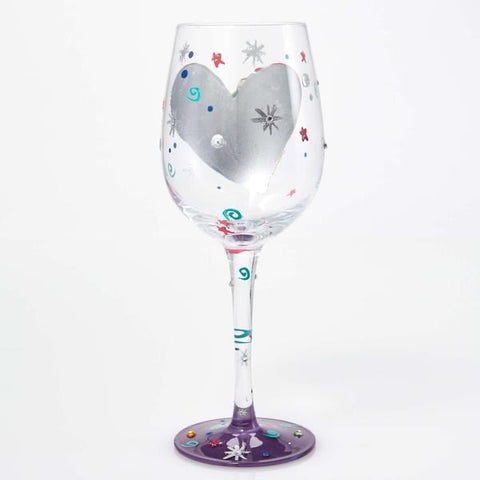 Silver Lining Wine Glass by Lolita