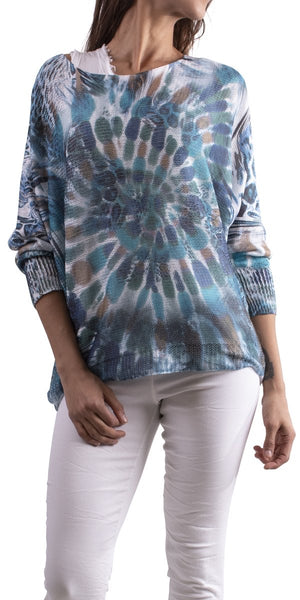 Sorella Tie Dye Sweater - Blue