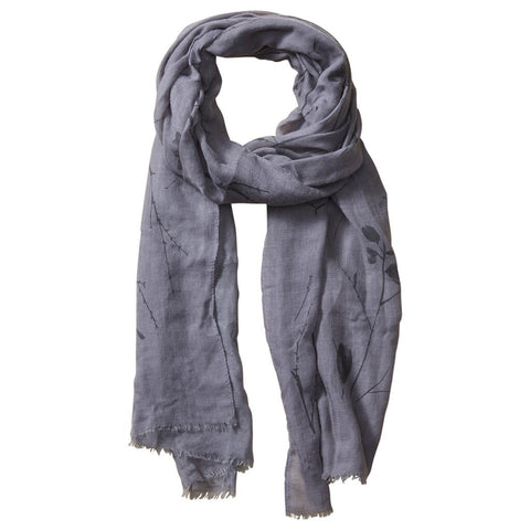 Insect Shield Branches Scarf in Taupe