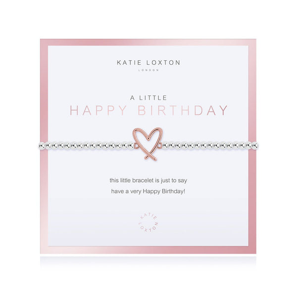 BEAUTIFULLY BOXED A LITTLE HAPPY BIRTHDAY BRACELET