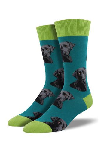 Men's Black Labrador Socks