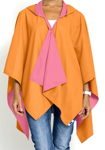 Pink & Orange Reversible Rain Wrap