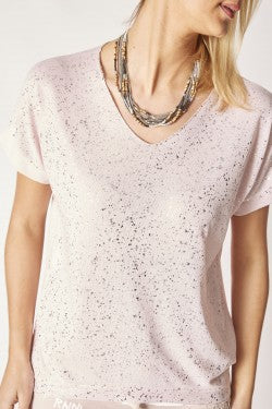 Short Sleeve T-Shirt with Silver Detail