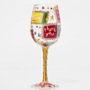 Thank You Wine Glass by Lolita