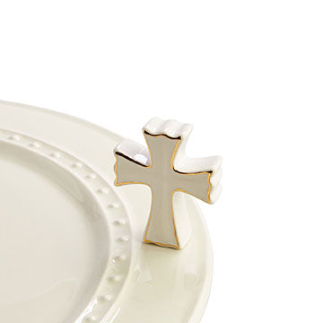 Nora Fleming Mini: White Cross