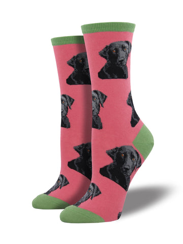 Women's Black Labrador Socks
