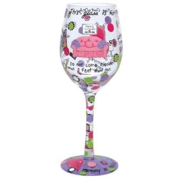 Mommy's Time Out Wine Glass by Lolita