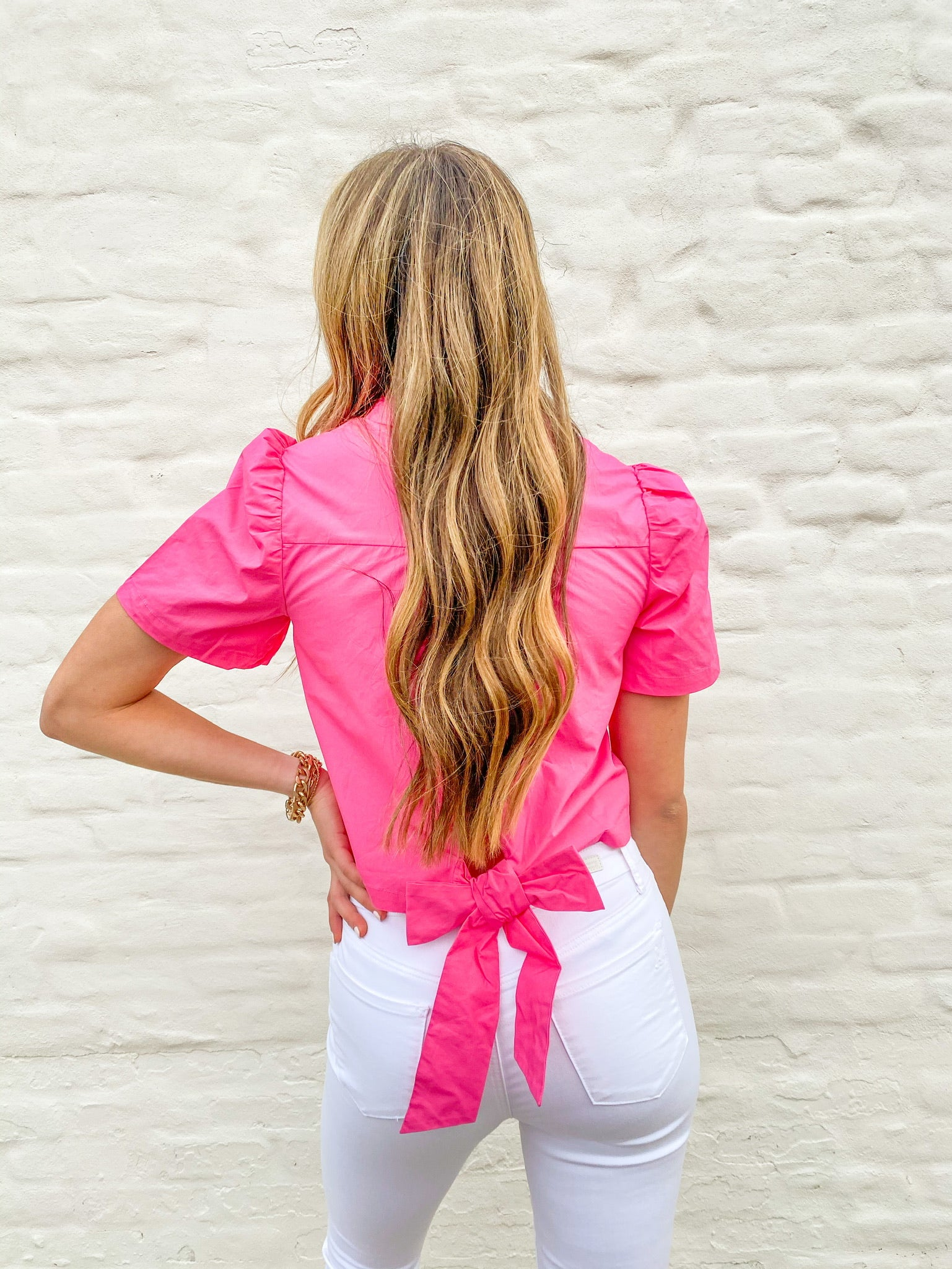 Hot Pink Ruffled Top